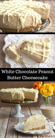 Low Carb White Chocolate Peanut Butter Cake by Joy Filled Eats | Favorite Low Carb Recipes