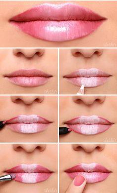 Make your lips full - DIY Beauty Hacks ., Make your lips full yourself - DIY Beauty Hacks # yourself. Lip Tutorial, Lipstick Tutorial, Eyebrow Tutorial, Contouring Tutorial, Diy Makeup, Makeup Tips, Makeup Ideas, Prom Makeup, Quick Makeup