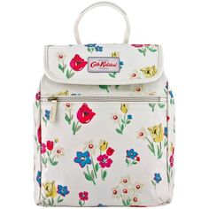 Cath Kidston Paradise Flowers Handbag Back Pack, Cream (565 ZAR) ❤ liked on Polyvore featuring bags, backpacks, vinyl backpack, floral print backpack, top handle bag, pocket bag and flower bag