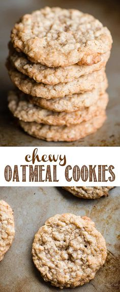 Chewy Oatmeal Cookies, just like Grandma used to make, are the best cookies that take you straight back to your childhood! Full of chewy oats, brown sugar, walnuts, and spices, you just can't beat the taste and texture of these classic homemade cookies. This chewy oatmeal cookie recipe will become a favorite! #cookie #cookies #oatmeal #oatmealcookie #oatmealcookies #chewyoatmealcookies