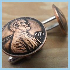 Celebrate 40 years with these 1975 Penny Cufflinks 40th Birthday Gift Coin Jewelry. Great for birthdays and anniversaries. Each coin is hand domed