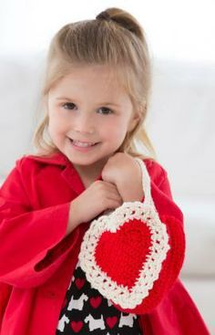 Here's My Heart Gift Bag Free Crochet Pattern for Valentine's Day from Red Heart Yarns