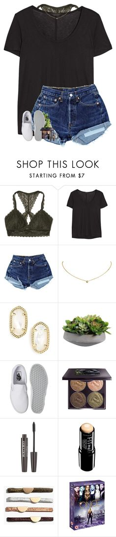 """""""Went to lifeteen"""" by halledaniella ❤ liked on Polyvore featuring Hollister Co., The Row, Cartier, Kendra Scott, Vans, Chantecaille, Burt's Bees, Maybelline, Madewell and Once Upon a Time"""