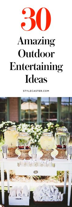 30 DIY Outdoor Entertaining Ideas for All Your Summer Parties | @stylecaster | StyleCaster
