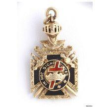 Masonicyork Rite Knights Templar Watch Fob In Hoc Signo