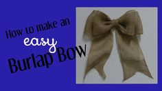 Here I show you an easy DIY on how to make a decorative bow for wreaths, home decor and more. This is a simple technique for making big or little beautiful b...