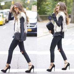 Pin for Later: Here's How to Really Rock That Furry Jacket Fur Vest