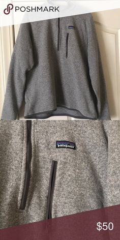 Patagonia Jacket // Better Sweater 1/4 Zip Worn.... but still decent condition!! The pocket zipper doesn't zip, might be fixable. Size men's large! Patagonia Jackets & Coats