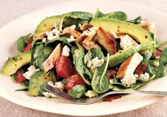 Turkey-Avocado Cobb Salad http://www.prevention.com/health/healthy-living/flat-belly-meals-that-blast-fat/slide/15
