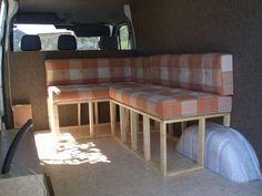 Make our own couch -- Mercedes Sprinter conversion - The Pampy Camper Mini Vans, Sprinter Van Conversion, Camper Conversion, Travel Camper, Van Travel, Pop Top Camper, Kangoo Camper, Camper Van Life, Best Family Cars