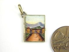 ANTIQUE ITALIAN SILVER GILT ENAMEL BOOK SHAPED CHARM RICORDO MEMORY c1930's | eBay, sold for US $85,00 Ca. EUR 62,36