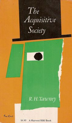 1955, The Acquisitive Society Cover by Paul Rand