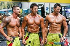"This weeks #FiremanFriday is a picture taking during the photo shoot for the @FireCalendarAus ""WOWSERS""!"