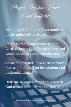 Prayer - When I need to be Comforted
