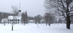 Vermont village in a blanket of new snow.