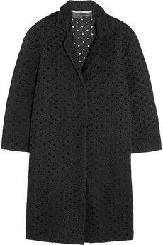 Roland Mouret Paddington honeycomb-mesh coat | NET-A-PORTER