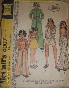 Vintage McCall's 4007 Girls' Childs' jacket skirt by Bigwheel179, $2.00