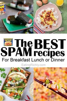 Potluck Dishes, Pork Dishes, Pork Recipes, Mexican Food Recipes, Hawaiian Recipes, Rice Recipes, Fried Spam, Easy Dinner Recipes, Kitchens