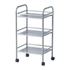 IKEA - DRAGGAN, Kärry, hopea, , Pyörien ansiosta helppo siirrellä.
