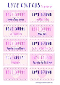 I love these love coupons! What a great free printable for Valentine's Day!