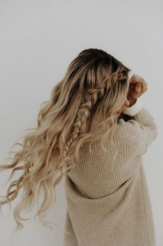 52 Trendy Chic Braided Hairstyle Ideas You Should Try - braid hairstyle, crown braid half up half down hairstyles #hairstyle #braids #cutehairstyles
