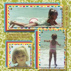Fun summer pictures from years ago, made with the new summer papers.  http://gloriagonzaleshall.stampinup.net/