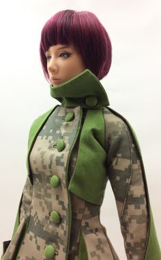 Lily Coat '' Block Camouflage '' (OS-162) OUGI SAIGON order-made studio for 1/3 scale Doll