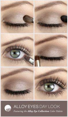 Dezente glänzende Augen