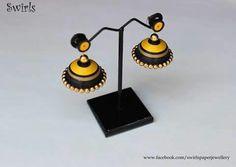 Buy Quilling Jumkhas at Lowest Price - Quilling Earrings Jhumkas, Quiling Earings, Paper Earrings, Diy Earrings, Round Earrings, Paper Quilling Jewelry, Quilling Paper Craft, Paper Jewelry, Quilling Patterns