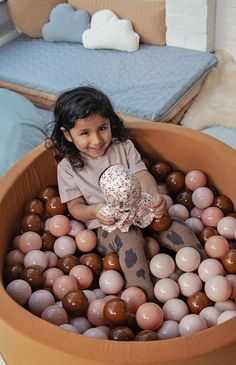 Mini Be Ball Pit - Earthy Tones In Camel Pit perfect for any playroom in this seasons hottest colour! Ball Pit Grey, Ball Pit Pink, Contemporary Nursery Decor, Sensory Rooms, Playroom Storage, Latest Colour, Nursery Inspiration, Polyurethane Foam, Girl Nursery