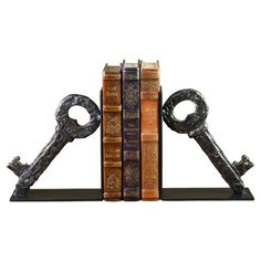 I pinned this Lost Key Bookend (Set of 2) from the Pamela Copeman event at Joss and Main!