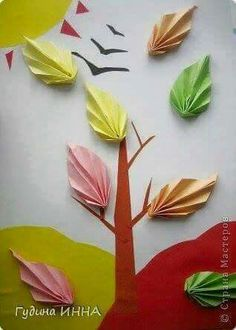 Doğa Fall Crafts, Crafts For Kids, Kirigami, Printable Paper, Art Lessons, Activities For Kids, Projects To Try, Paper Crafts, Autumn