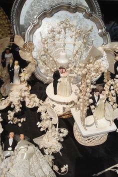 Vintage wedding cake toppers! Love.                                                                                                                                                                                 More