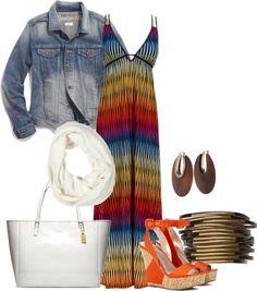 """Maxi dress summer set"" by krlittle on Polyvore"