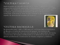 *Cultura Valdivia:Valdivia puede ser considerada una de las culturas agroalfareras mas antiguas del continente americano. ...