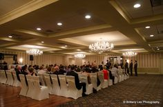 The Sterling Ballroom can hold 225 guests with a dance floor! www.SterlingBallroomEvents.com. Photo courtesy of Brittany Lee Photography. #wedding #bride #groom #marriage #wife #husband #SterlingBallroom #tintonfalls #nj #njweddingvenue #njweddings #njbanquethall #reception #weddingreception #pinparty