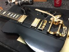 Phoenix model, distressed with Bigsby Chicago Music Exchange