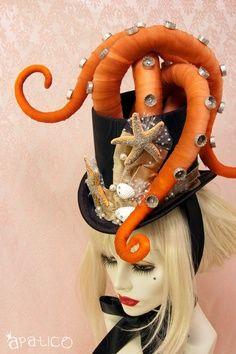 chapeau pieuvre steampunk