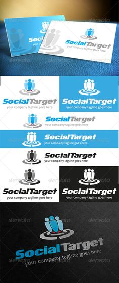 Social Target Logo — Photoshop PSD #target #group • Available here → https://graphicriver.net/item/social-target-logo/3907493?ref=pxcr
