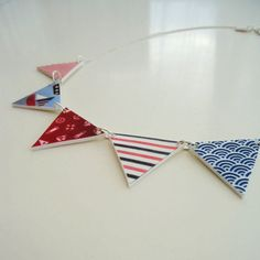 Nautical Bunting Necklace  Handmade kitsch by TheCatkinBoutique, $23.50