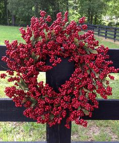 Look at this Red Berry Wreath by Mills Floral Company Christmas Projects, Holiday Crafts, Christmas Time, Christmas Wreaths, Christmas Decorations, Holiday Ideas, Christmas Ideas, Xmas, Red Berry Wreath