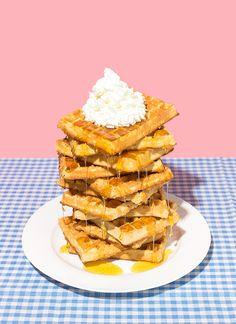 art direction | waffles food styling still life photography - Danielle Basser