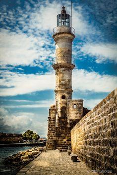 Hania Lighthouse, Crete, Greece