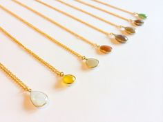 Atar pendants ~ beautiful cut gemstones in 18ct gold vermeil £50 ON SALE WITH 50% OFF and FREE shipping!