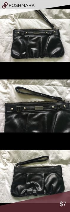 Express black leather clutch purse Express black leather clutch purse brand new condition Express Bags Clutches & Wristlets