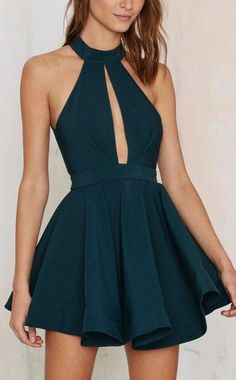 Cheap Homecoming Dresses Cheap 2016 Dark Green Jewel Collar Ruffled Semi Formal Dresses Graduation Dress from Happybridal - Abend Kleid Junior Prom Dresses, Cheap Homecoming Dresses, Backless Prom Dresses, A Line Prom Dresses, Cheap Dresses, Dress Prom, Skater Dress, Graduation Dresses, Bodycon Dress