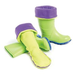 Money saver! For $2 worth of fleece I can turn my daughter's awesome Barbie rainboots into snowboots. Especially good considering it only snows down here once or twice a year. :)