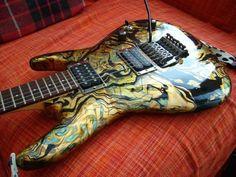 Swirled Guitar Finish
