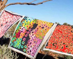 Everyday Spirituality: The Spinifex Arts Project Paintings Art Production, Aboriginal Painting, Sand Painting, Painted Leaves, Beautiful Paintings, Wood Carving, Art Inspo, Color Inspiration, Art Projects
