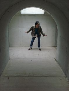 concrete tunnels by Dr.Rek, via Flickr I pinned this because it gives a feel for the house I have in mind to design using concrete tubing.